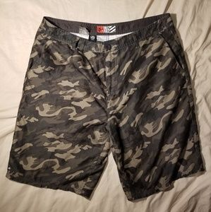 Micros Camouflage Print Shorts